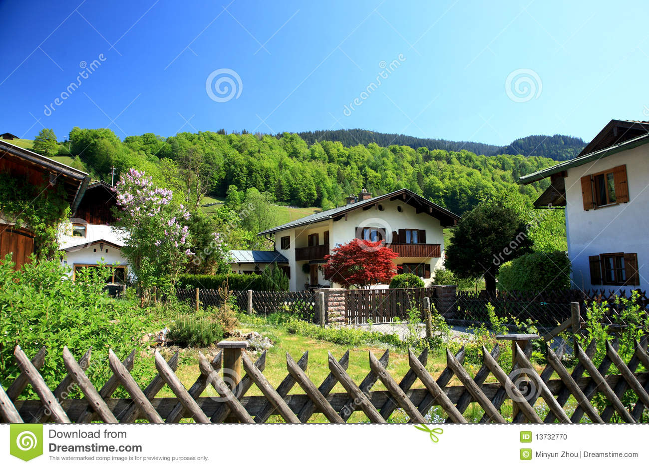 Houses stock photo image 13732770 for Small houses in germany