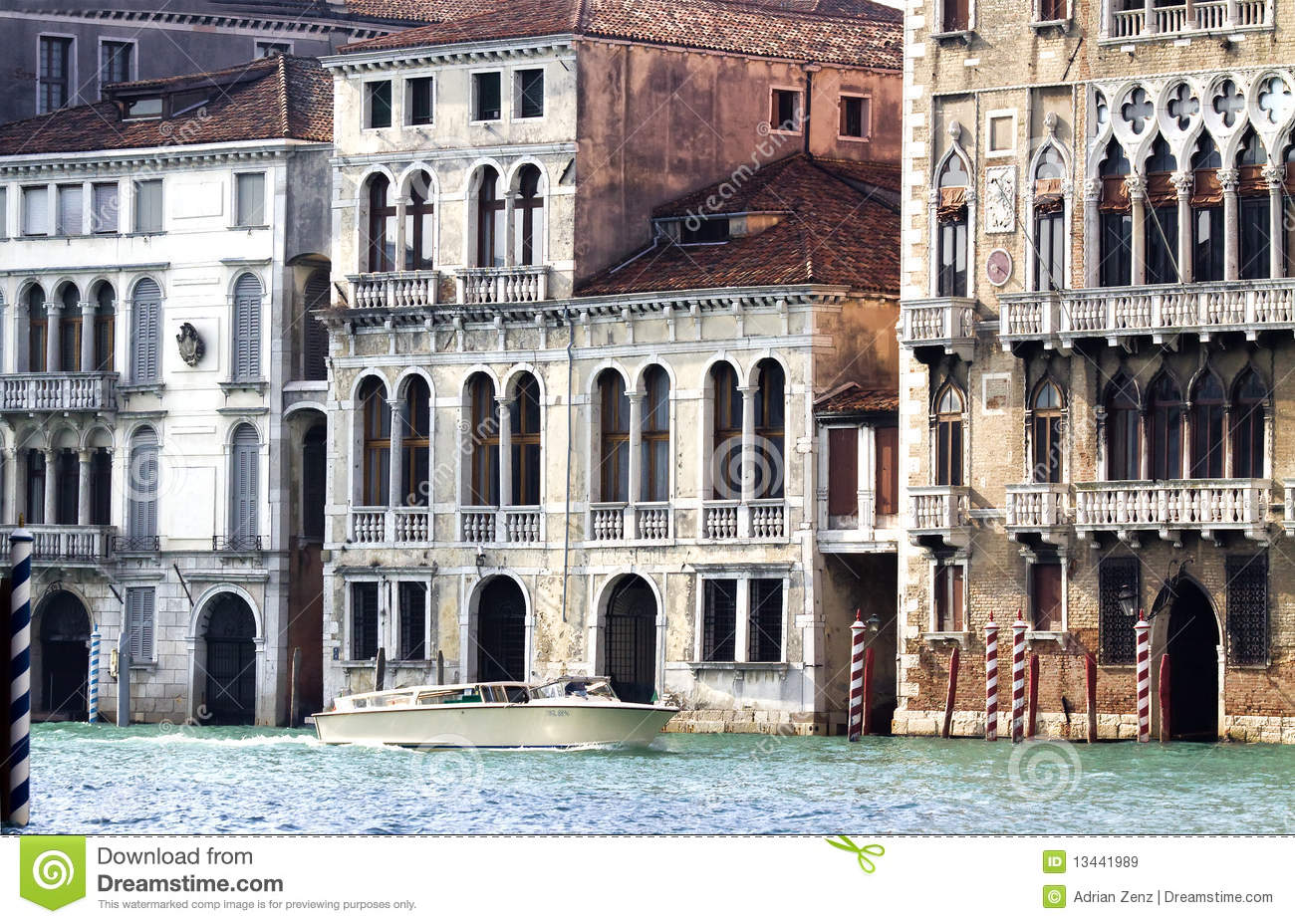 Houses along the Grand Canal, Venice