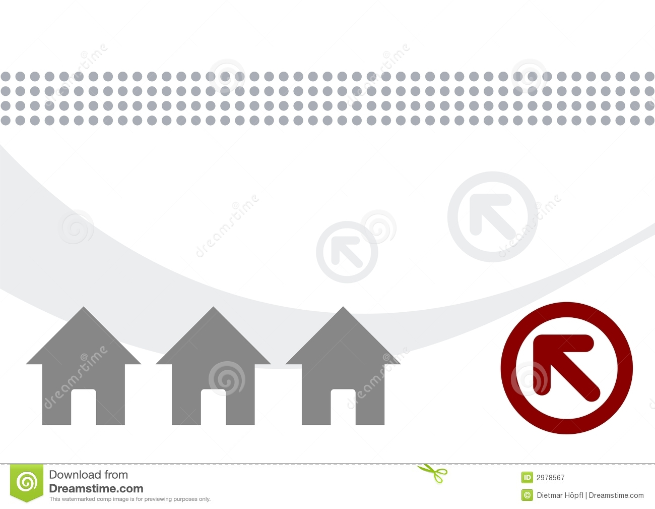 Houses and arrows illustration