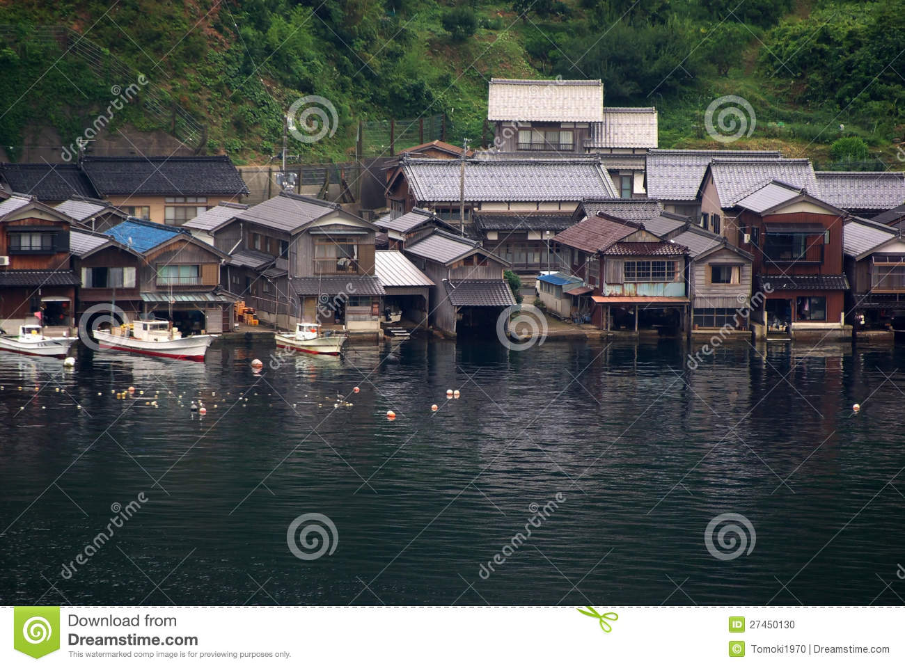 Houses With Boat Garage In Japan Stock Photo Image 27450130