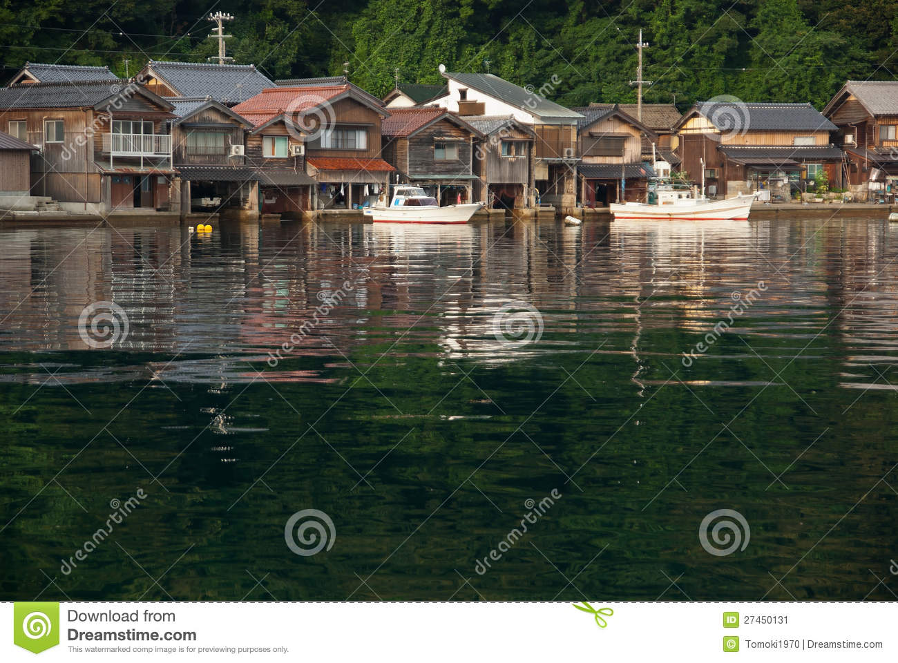 Houses With Boat Garage In Japan Stock Image Image 27450131