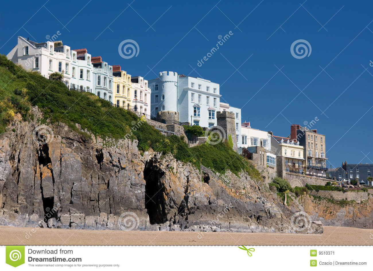 . Houses on cliffs stock image  Image of beach  cliff  hotel   9510371