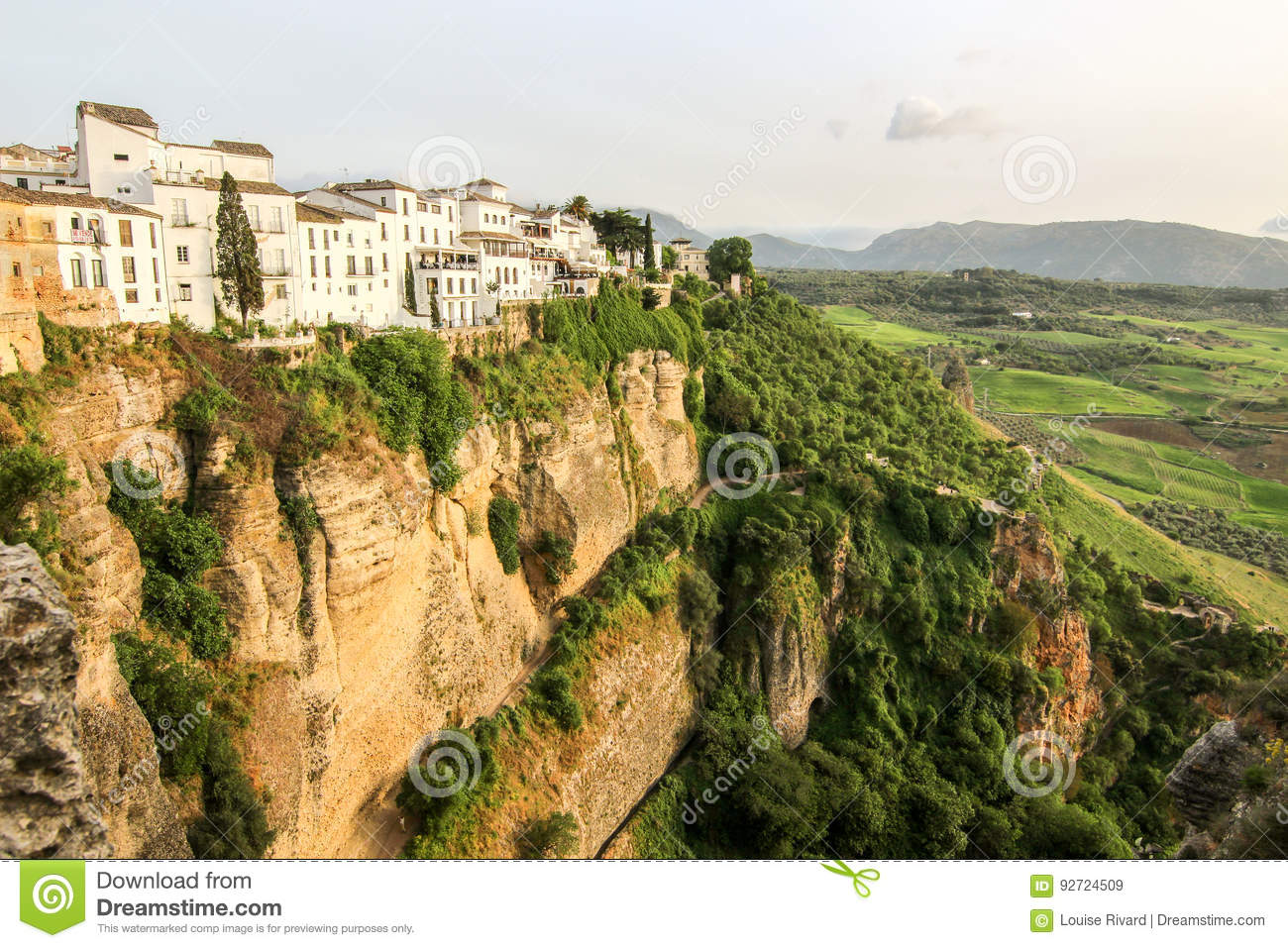 . Houses and cliffs stock image  Image of culture  landscape   92724509