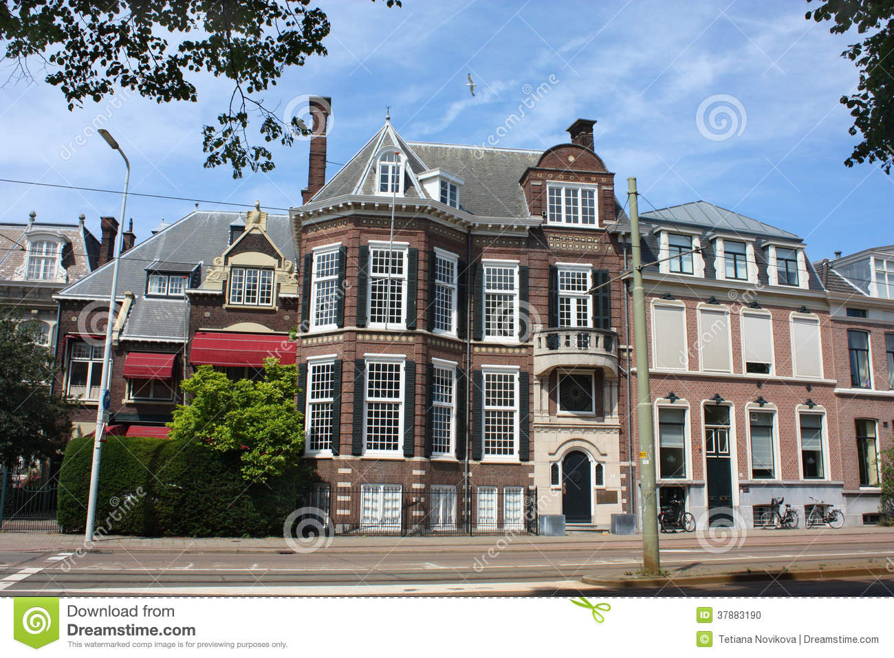 houses in den haag stock photo image 37883190
