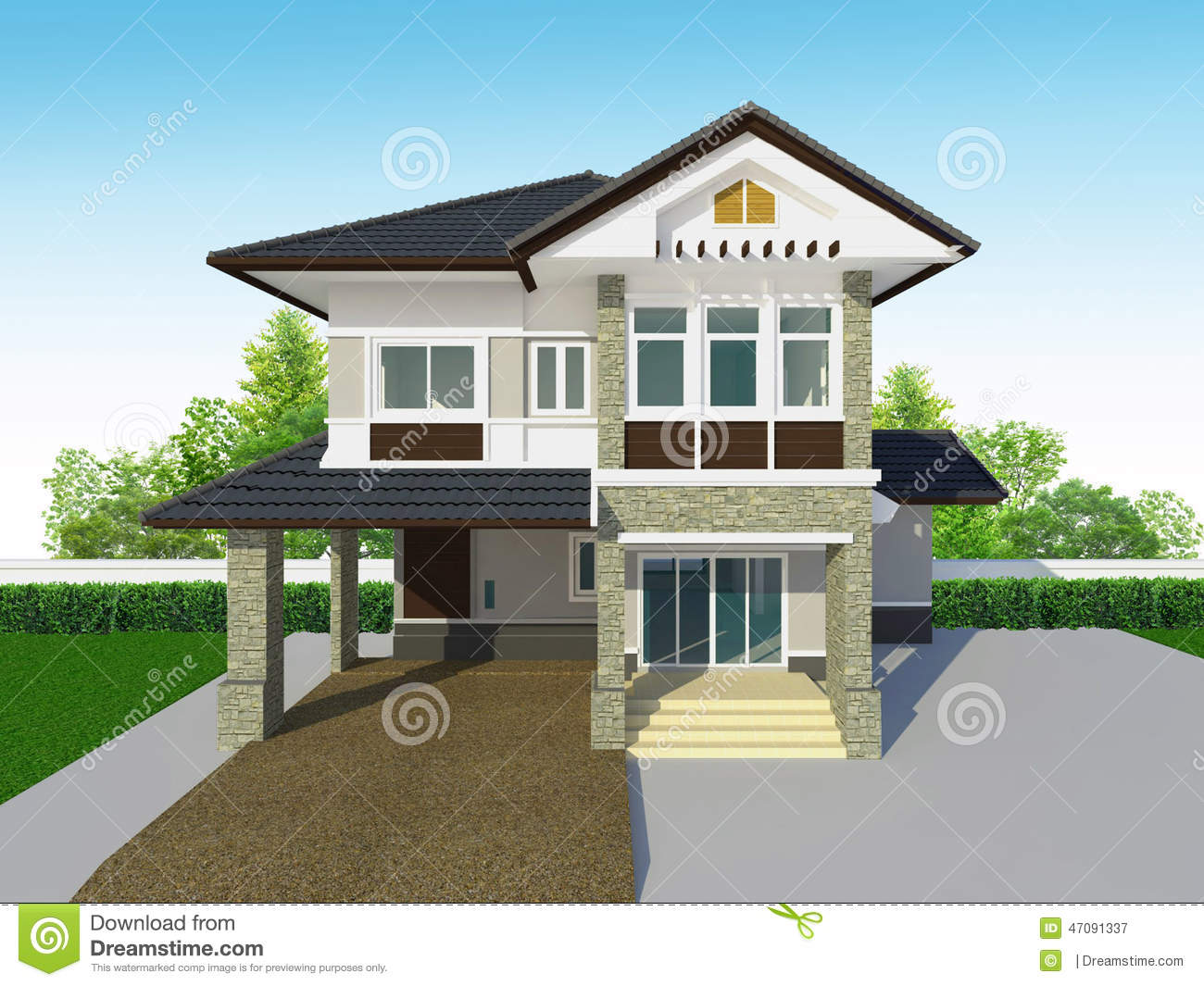 Houses Exterior Stock Image Image Of House Storey Houses 47091337