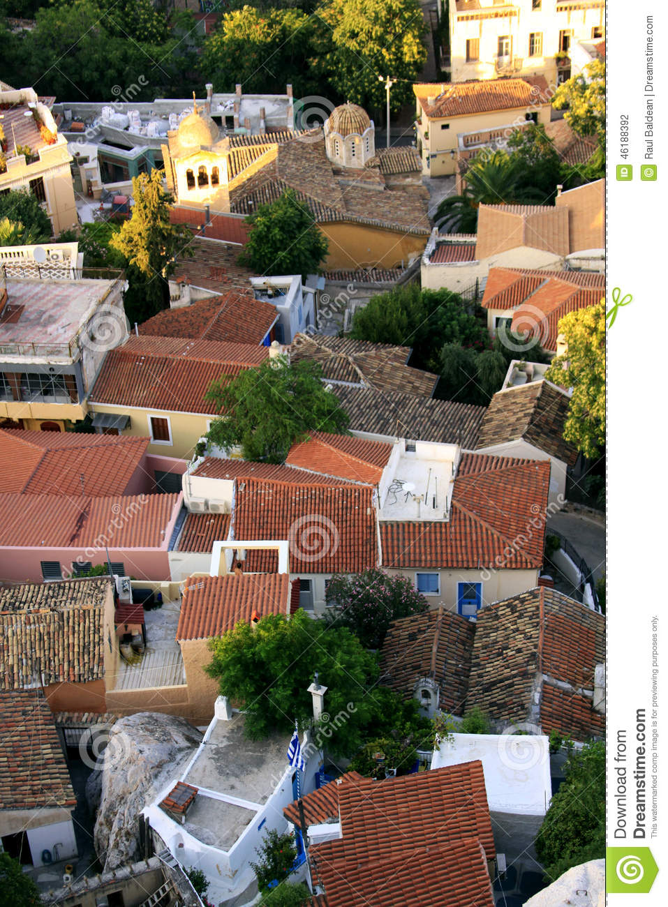Houses at the foothill of Acropolis, Athens