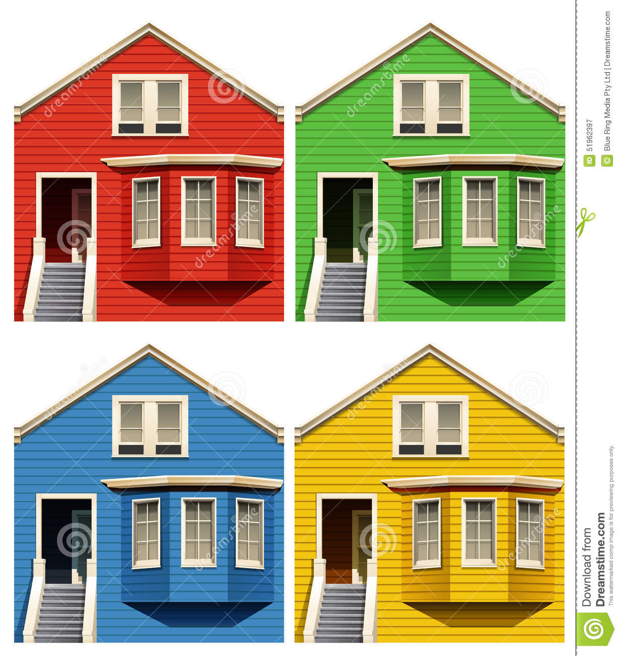 Peachy Houses Stock Vector Image 51962397 Largest Home Design Picture Inspirations Pitcheantrous