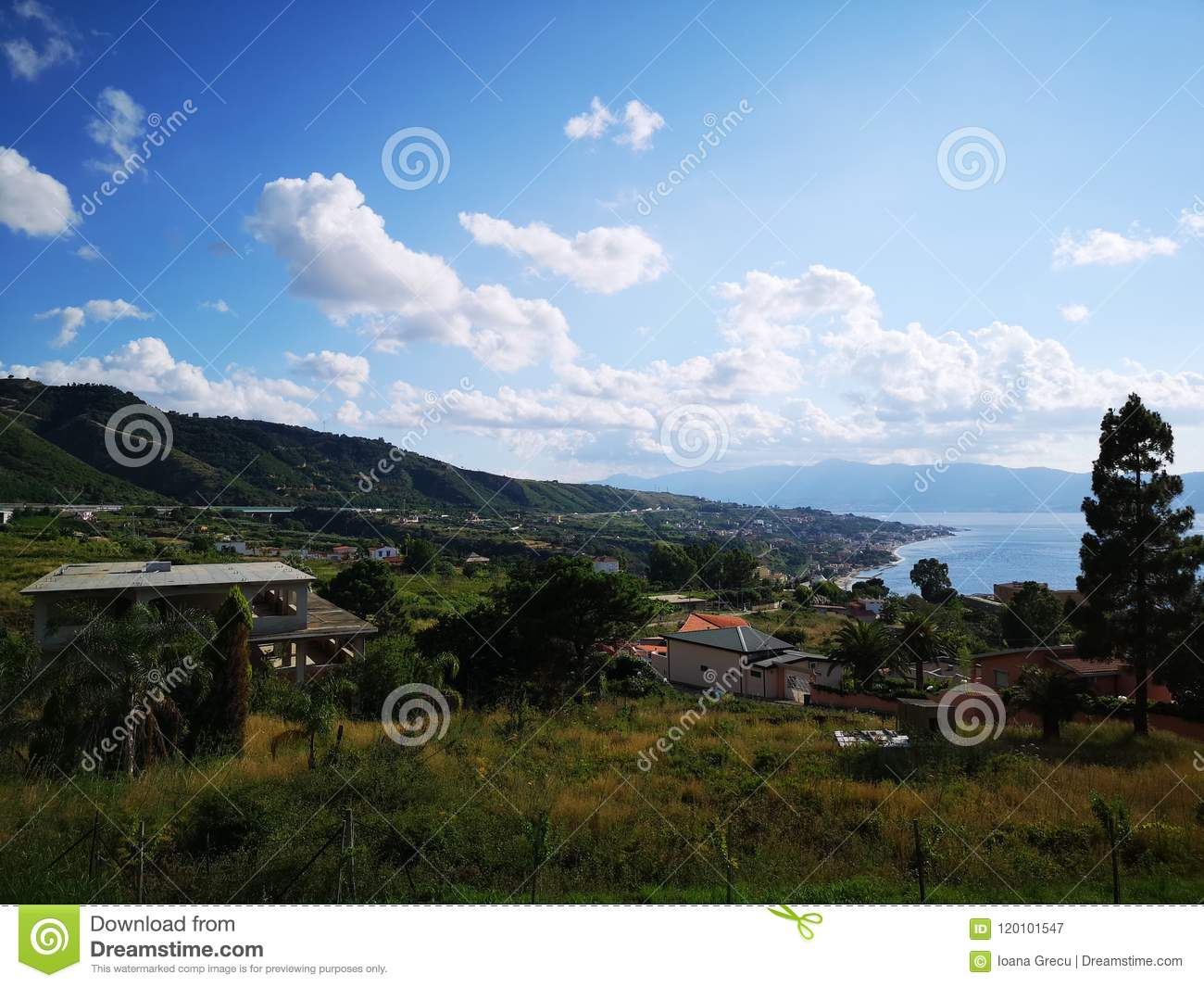 Houses on hills in Calabria