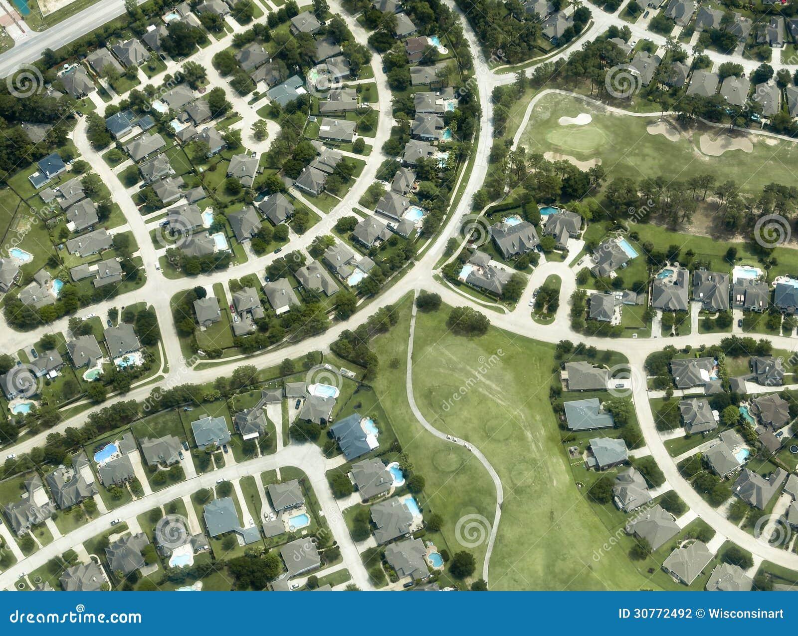 Houses, Homes, Neighborhood, Aerial View