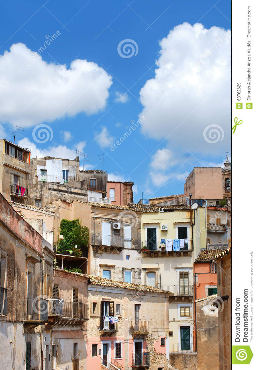 Houses in Ibla, Italy