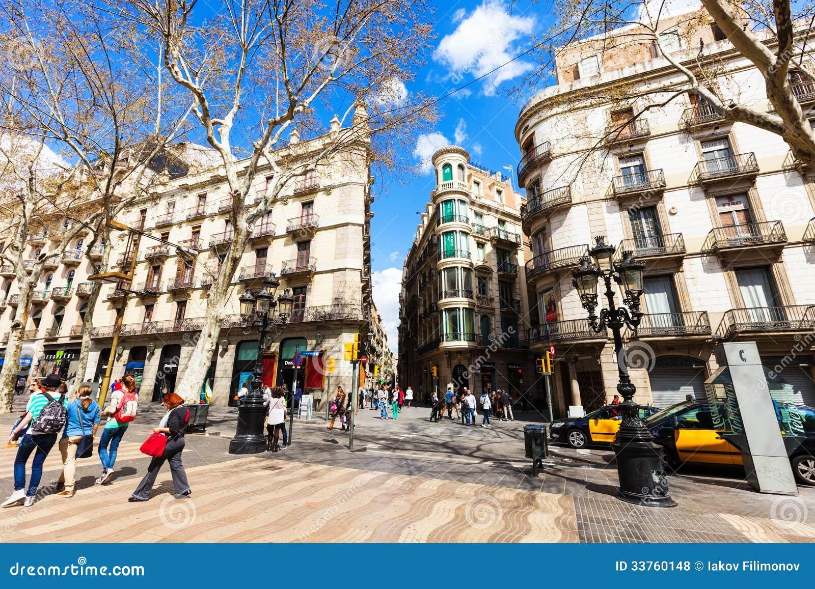 Houses At La Rambla, Barcelona. Spain Editorial Stock Photo - Image: 33760148