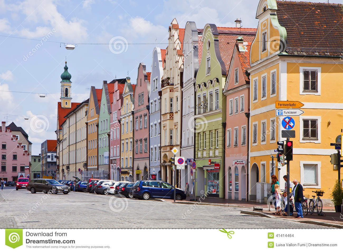 Houses In Landshut Editorial Stock Image Image 41414464