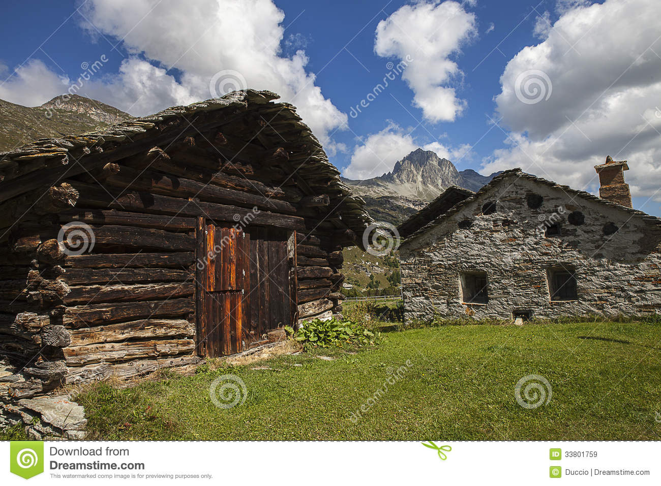Houses in the mountains royalty free stock images image 33801759 - Summer houses mountains ...