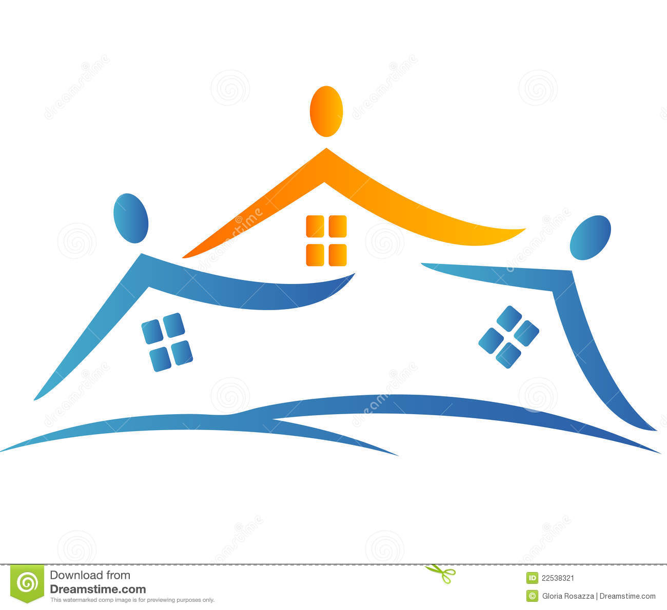 Houses Neighborhood Logo Stock Image - Image: 22538321