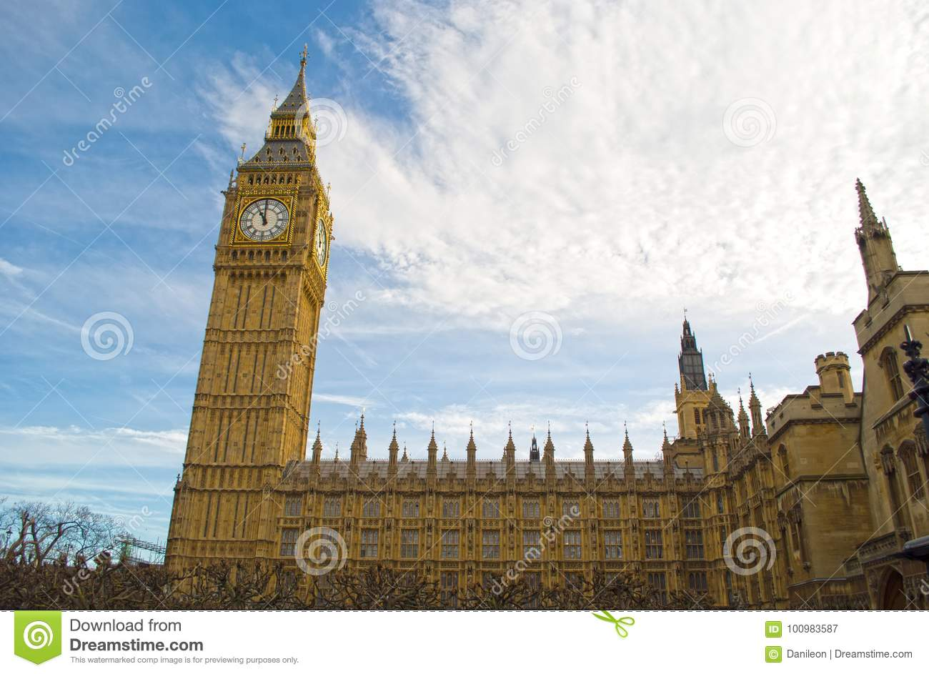 Houses Of Parliament London Stock Image Image Of Gold