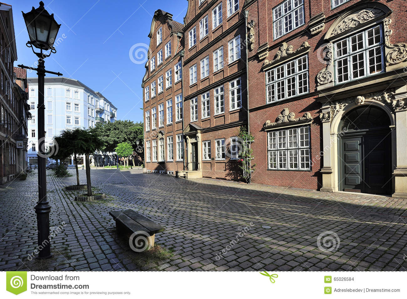 houses from 1600 1780 peterstrasse street hamburg germany stock photo image 65026584. Black Bedroom Furniture Sets. Home Design Ideas