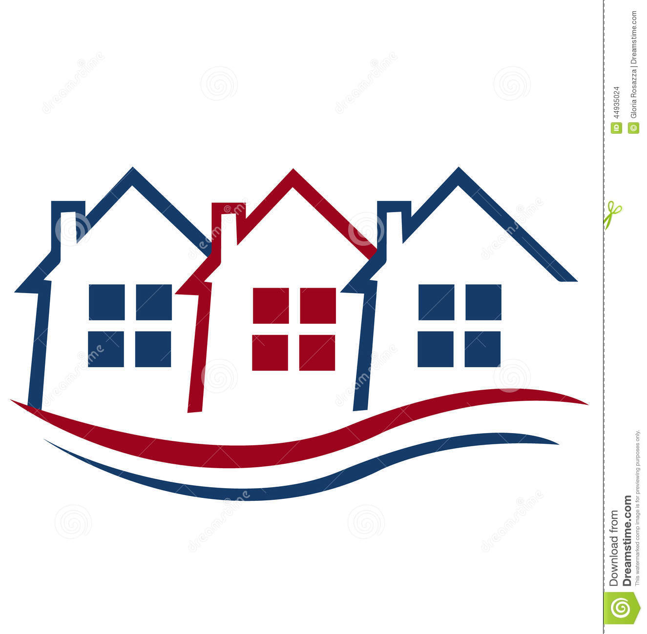 Houses For Real Estate Logo Stock Illustration - Image: 44935024