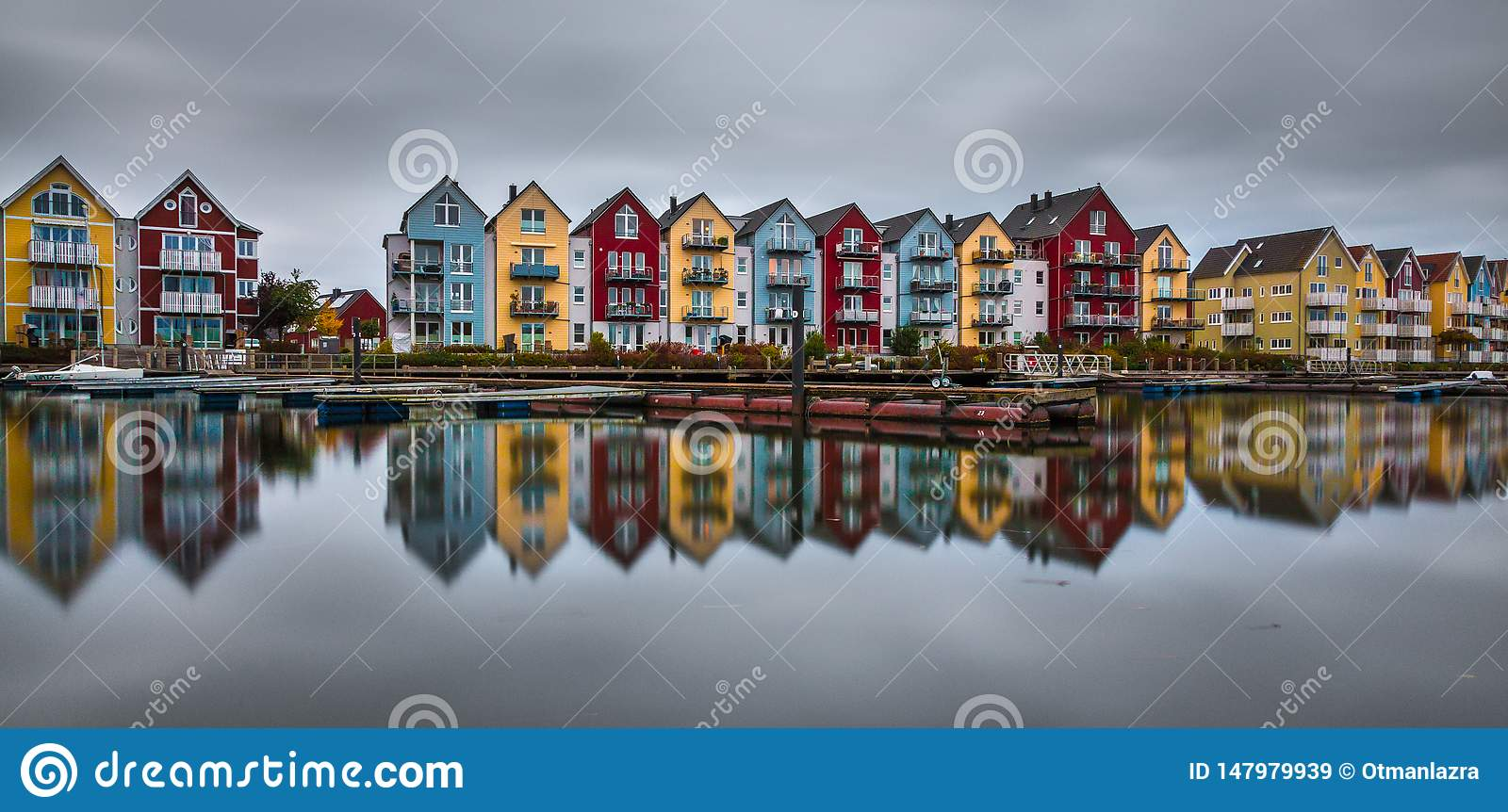 houses at the river Ryck in Greifswald