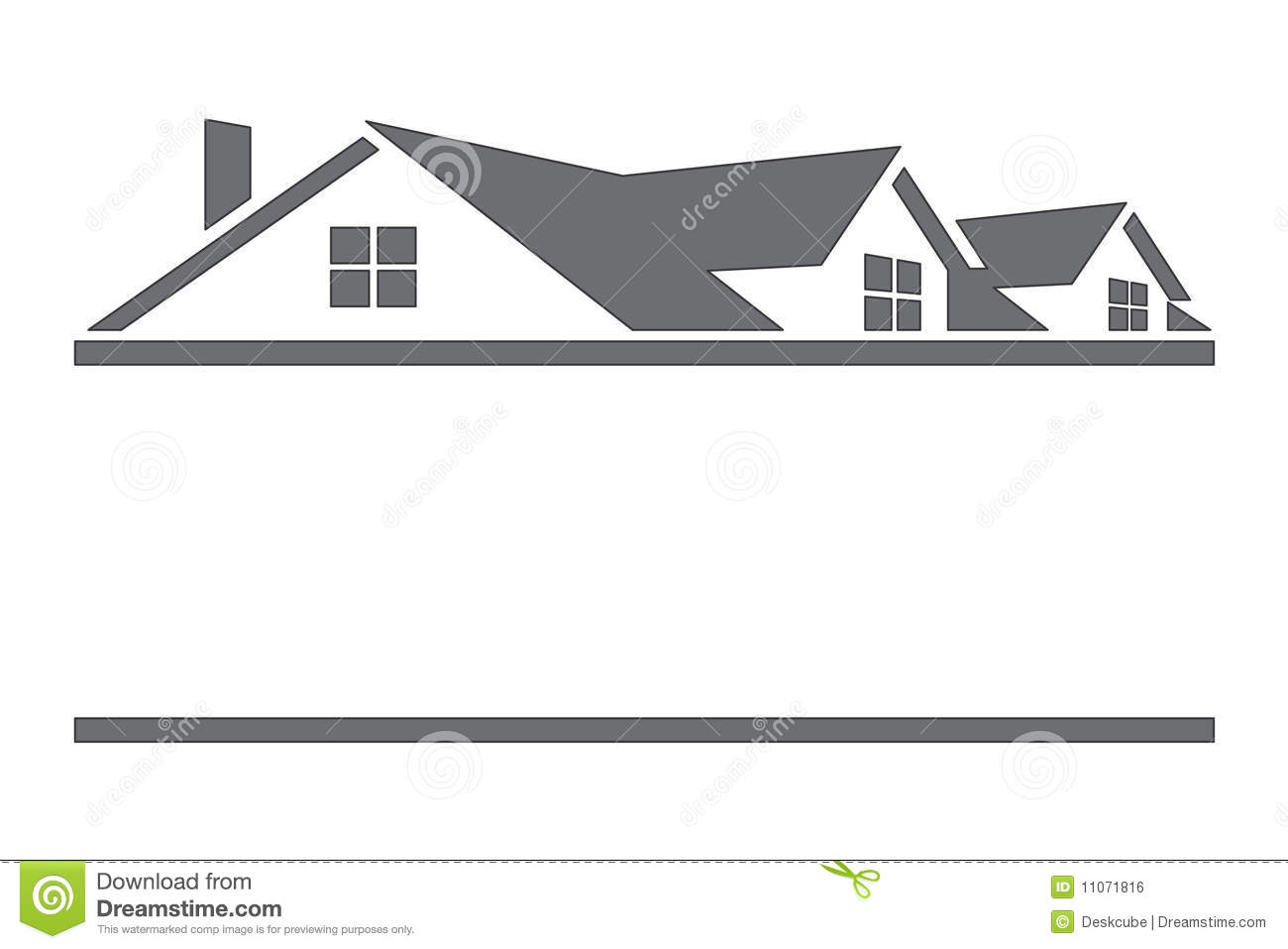 Houses And Roofs Royalty Free Stock Image - Image: 11071816