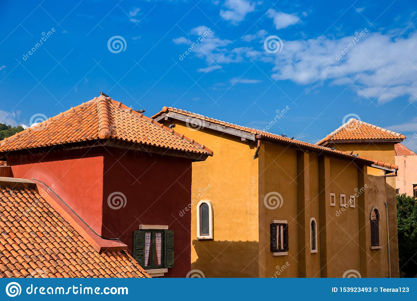 Roof Tile Rooftop Tile Brick Built Structure Stock Image Image Of Cottage Spanish 153923493