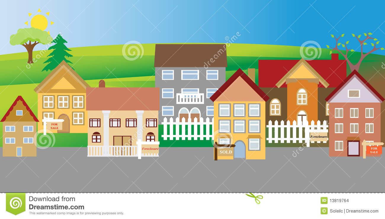 Astonishing Houses For Sale And Foreclosure Stock Vector Illustration Download Free Architecture Designs Scobabritishbridgeorg