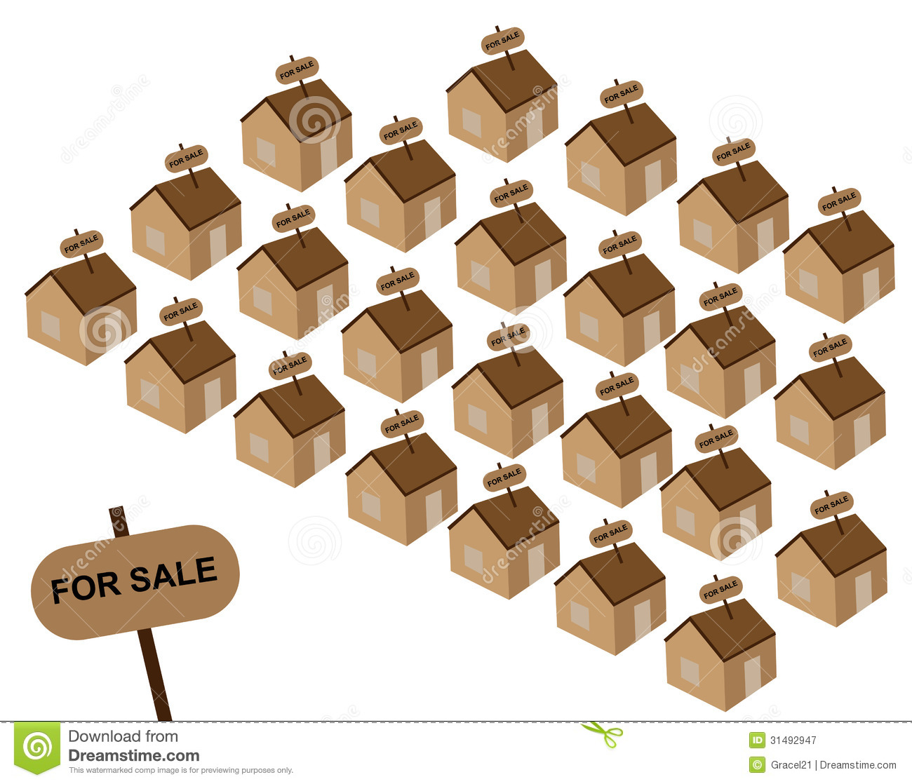 Houses For Sale Royalty Free Stock Photography