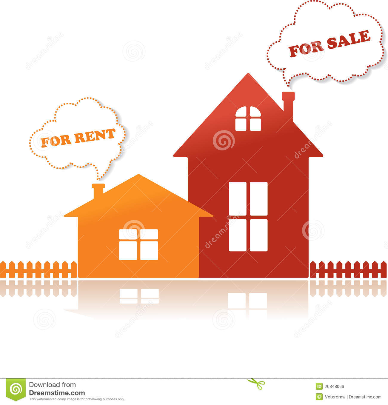 Free Houses For Rent: Houses For Sale And For Rent, Vector Illustration Royalty