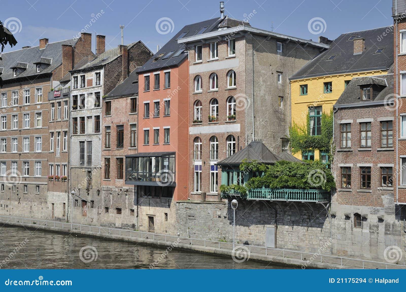 Houses on sambre river, namur