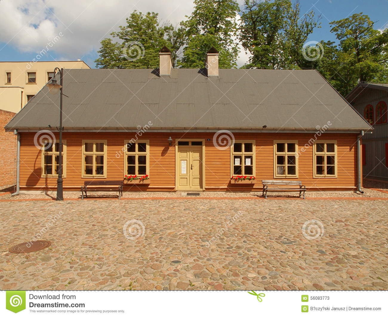 Houses Settlement Of An Old Lodz Editorial Stock Photo Image 56083773