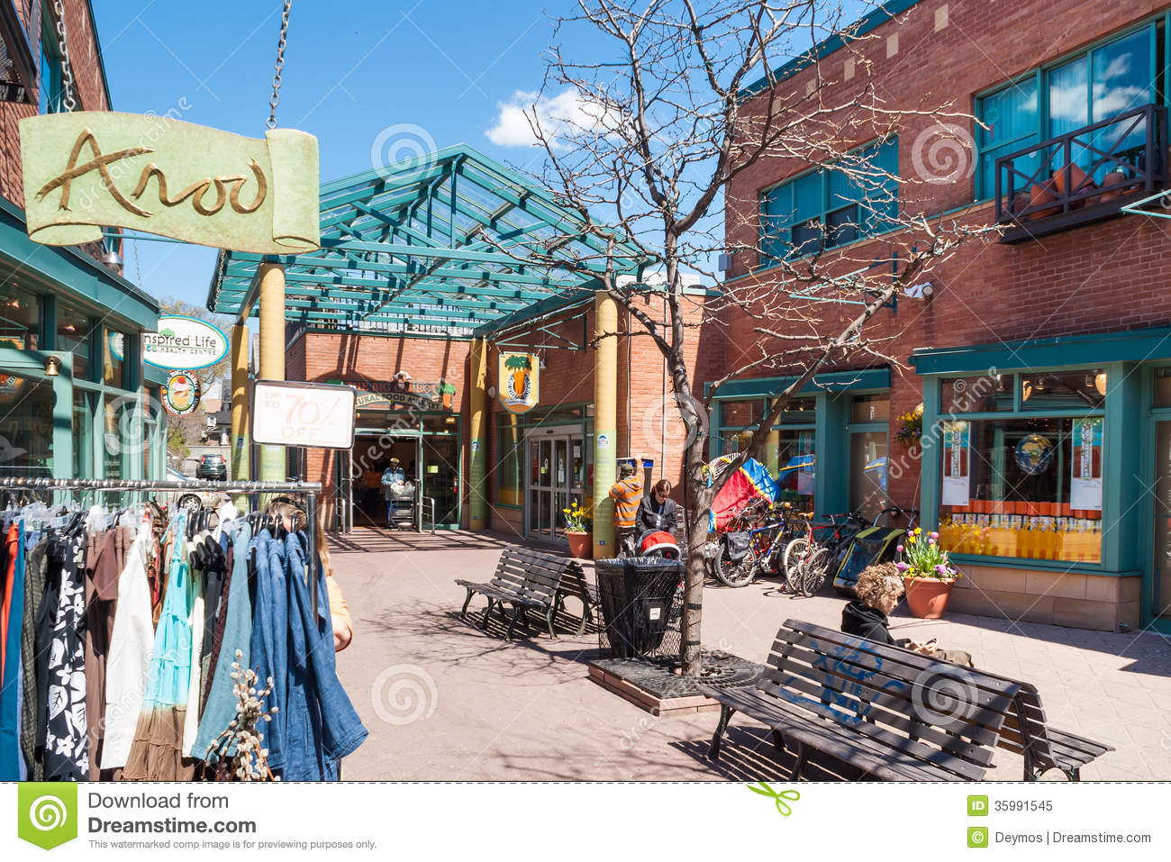 Houses and shops in Greektown in Toronto