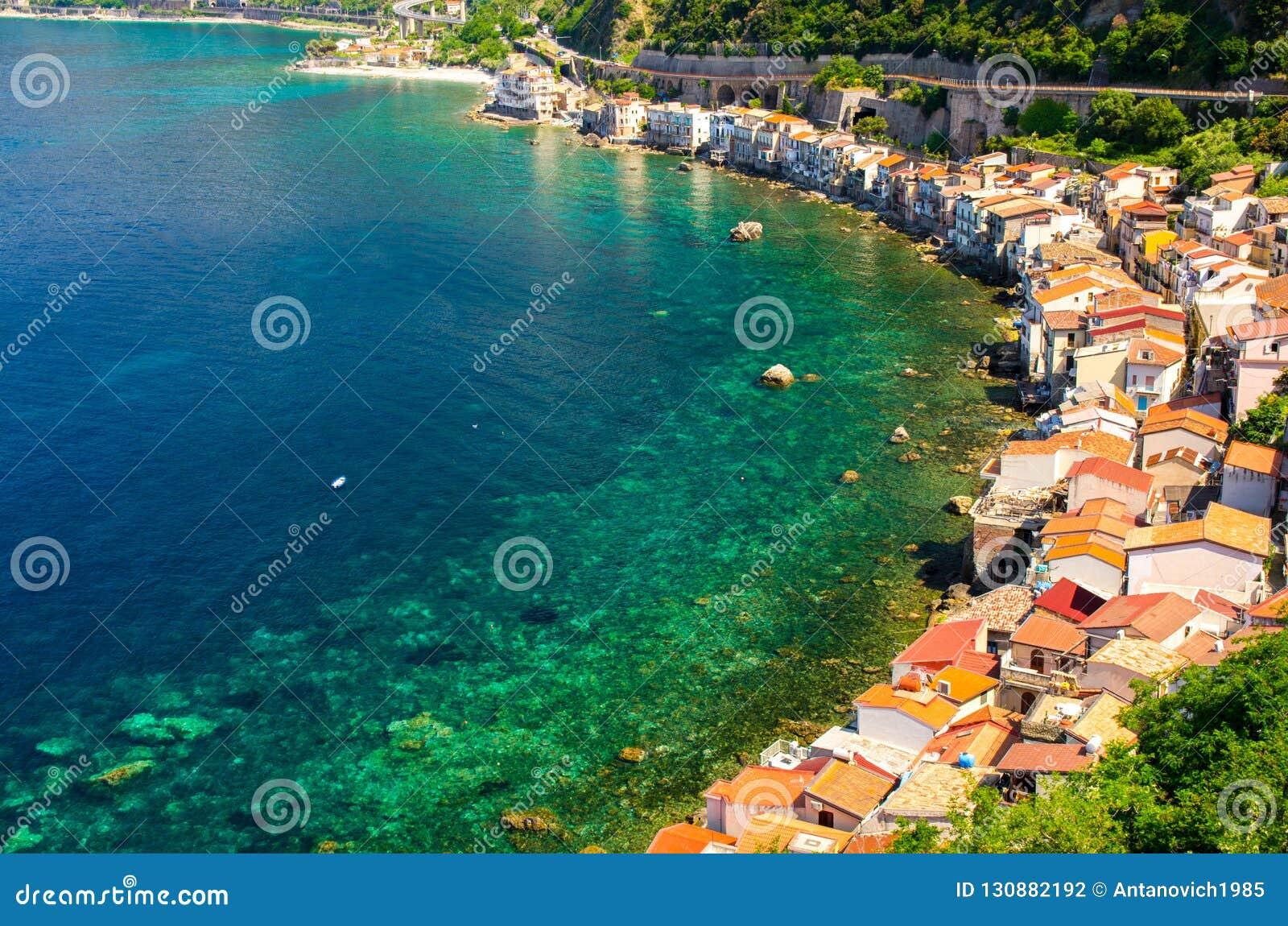 Houses in small fishing village Chianalea di Scilla, Calabria, I