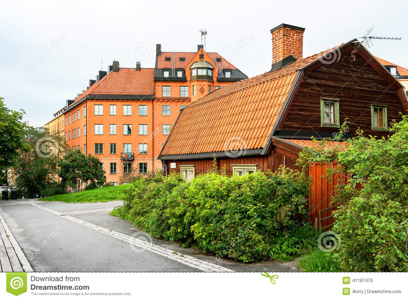 Houses at sodermalm in stockholm sweden stock photo for Vita house