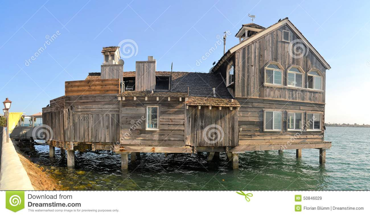 Houses On Stilts Palafito In Castro Chiloe Stock Image