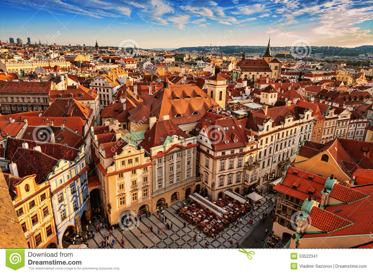 Royalty Free Stock Photo. Download Houses With Traditional Red Roofs ...
