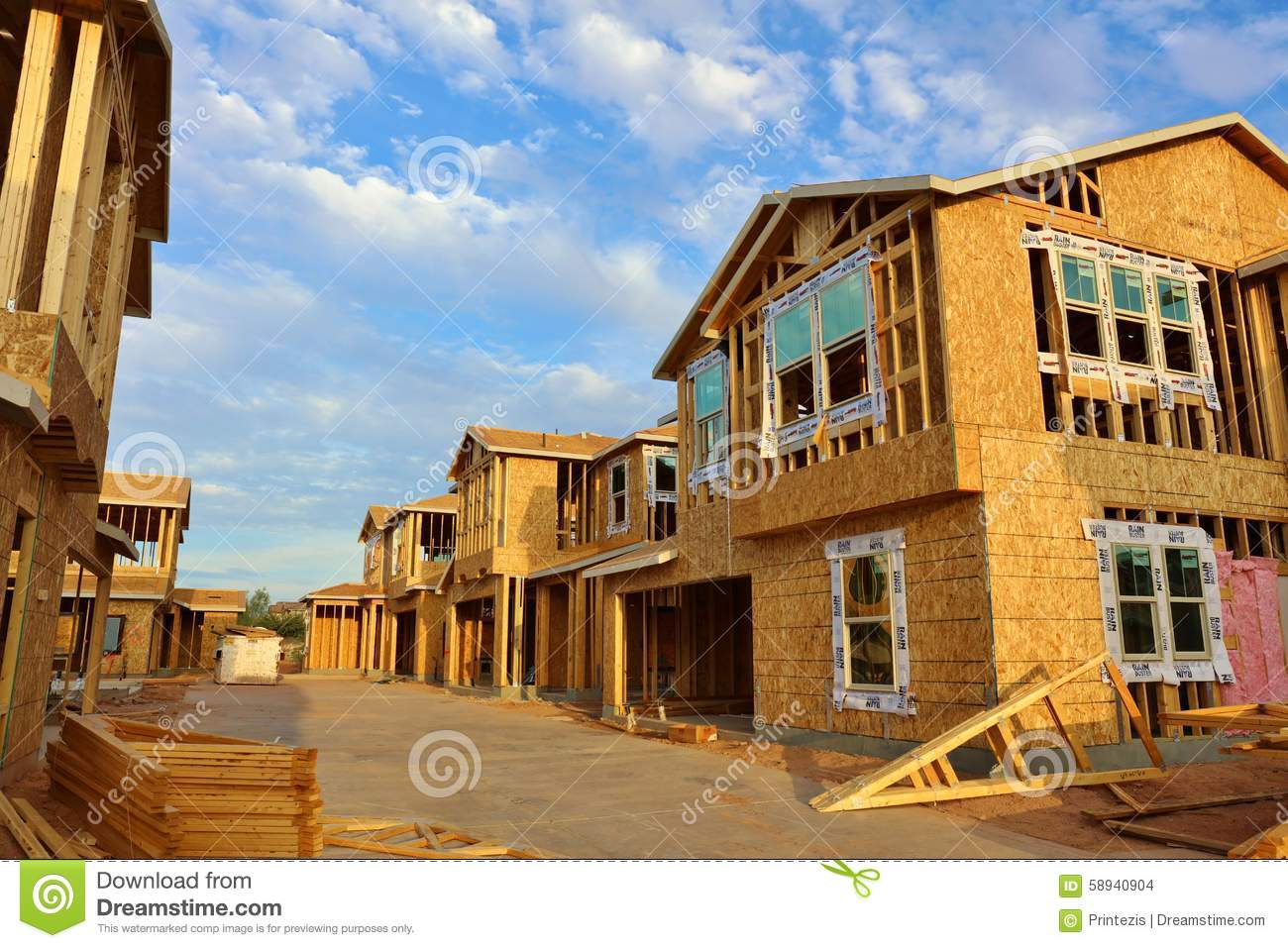 Houses under construction large file stock photo image for House under construction insurance