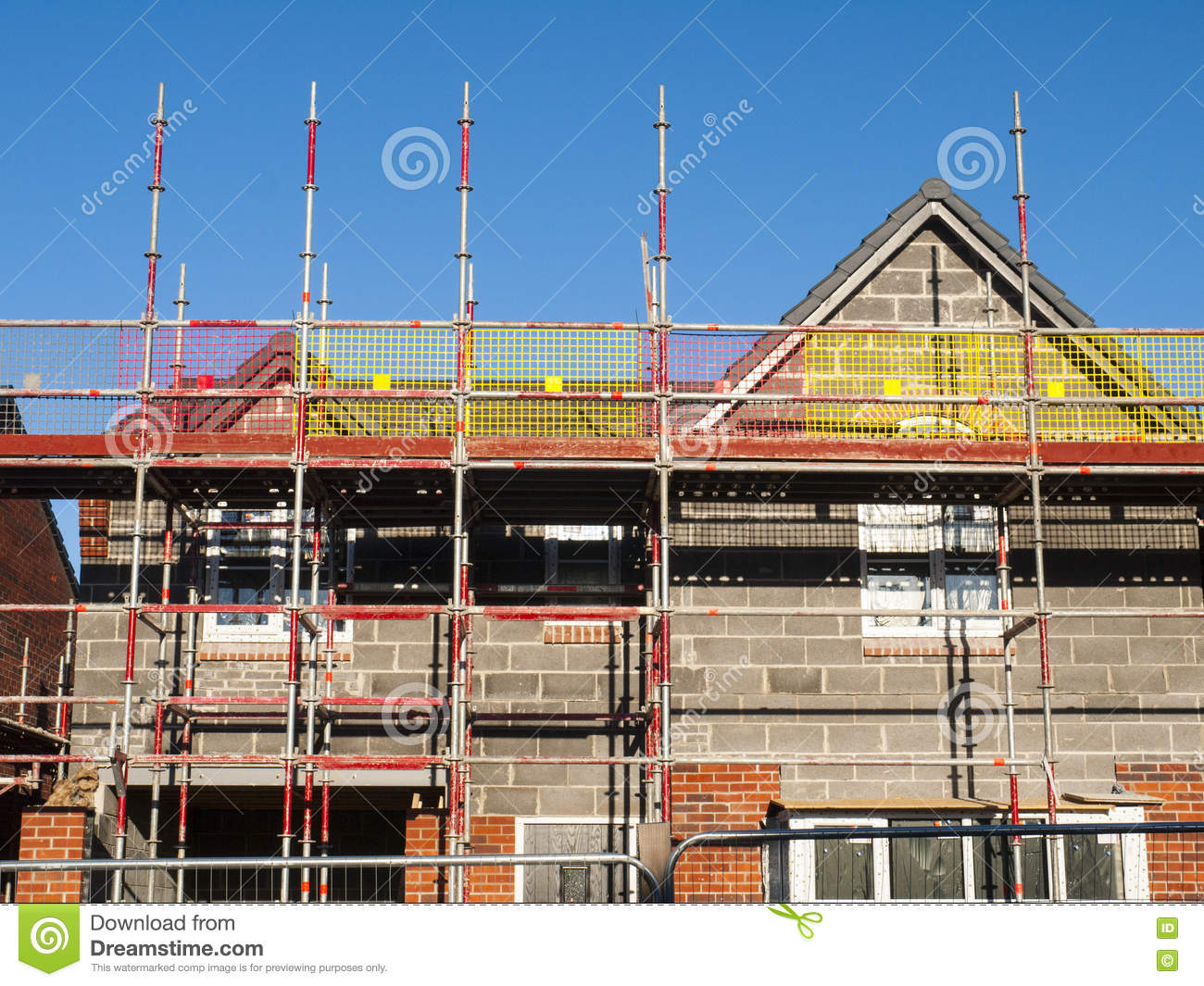 Houses under construction with thermal lagging stock for Building under construction insurance