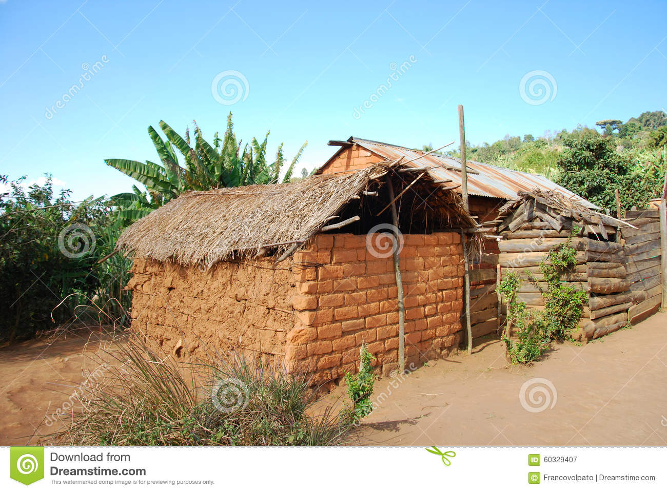 The Houses Of The Village Of Nguruwe In Tanzania Africa 95 Stock Photo Image 60329407