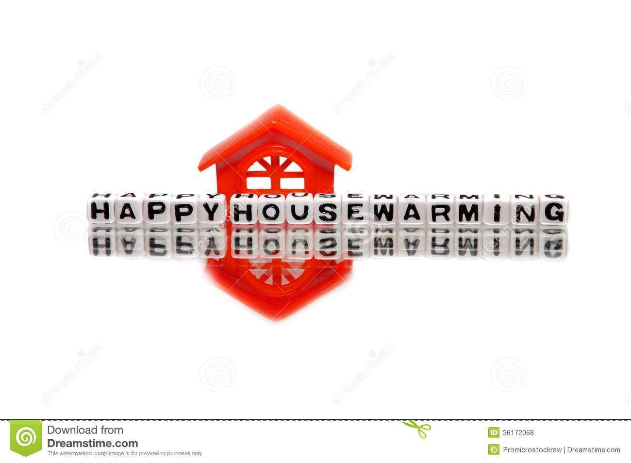 Housewarming message with red home royalty free stock What is house warming