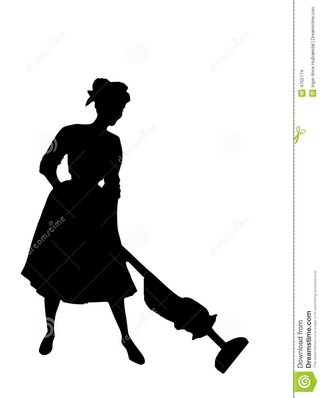 Silhouette Fifty Fab Woman: Housewife Of The 1950's Stock Images