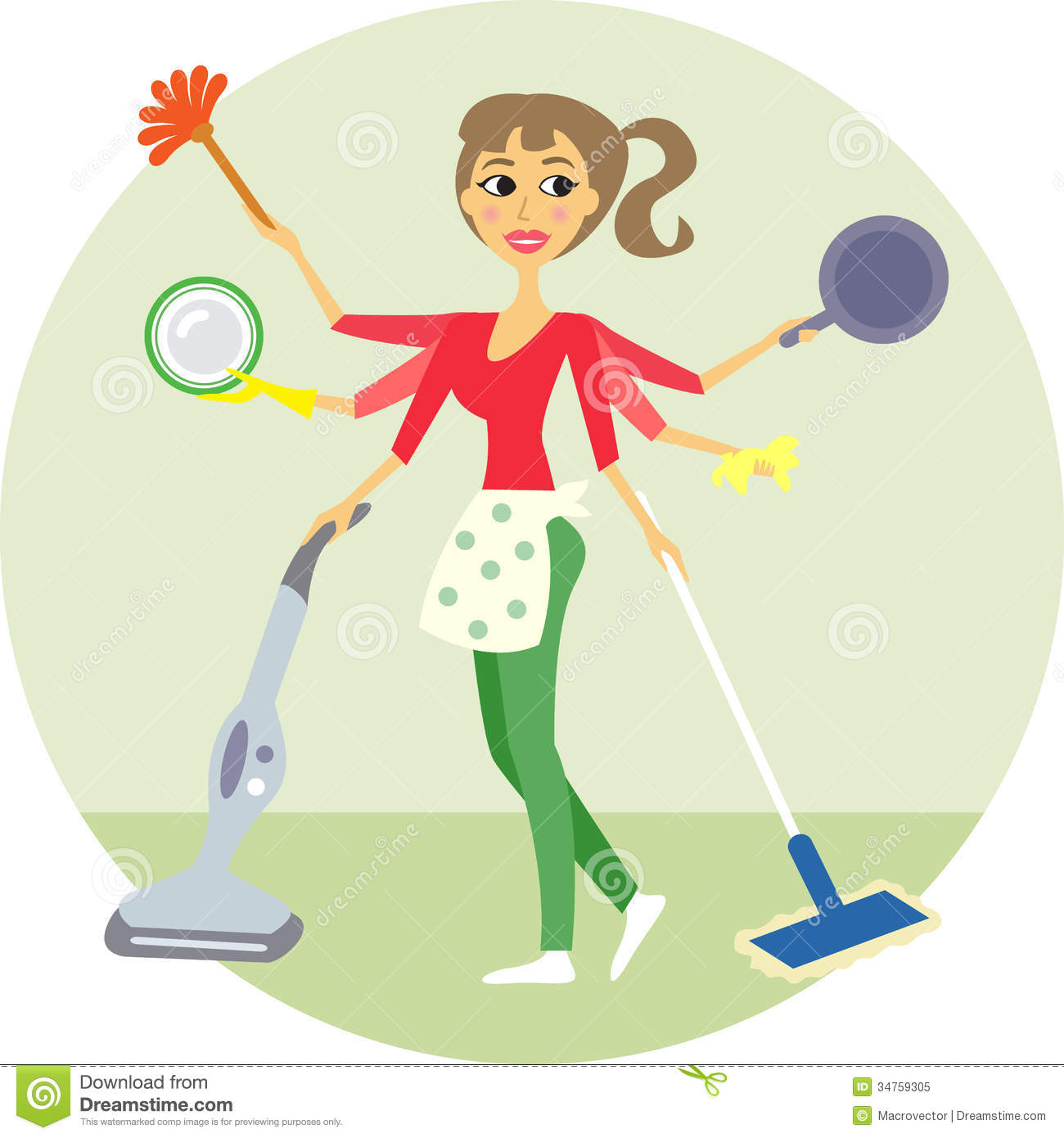 Housewife Royalty Free Stock Photo Image 34759305