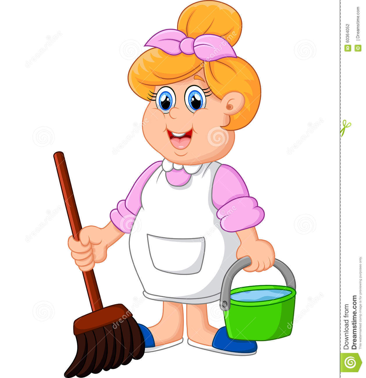 housewife cartoon illustration stock illustration image cleaning lady clip art free cleaning lady clip art sign