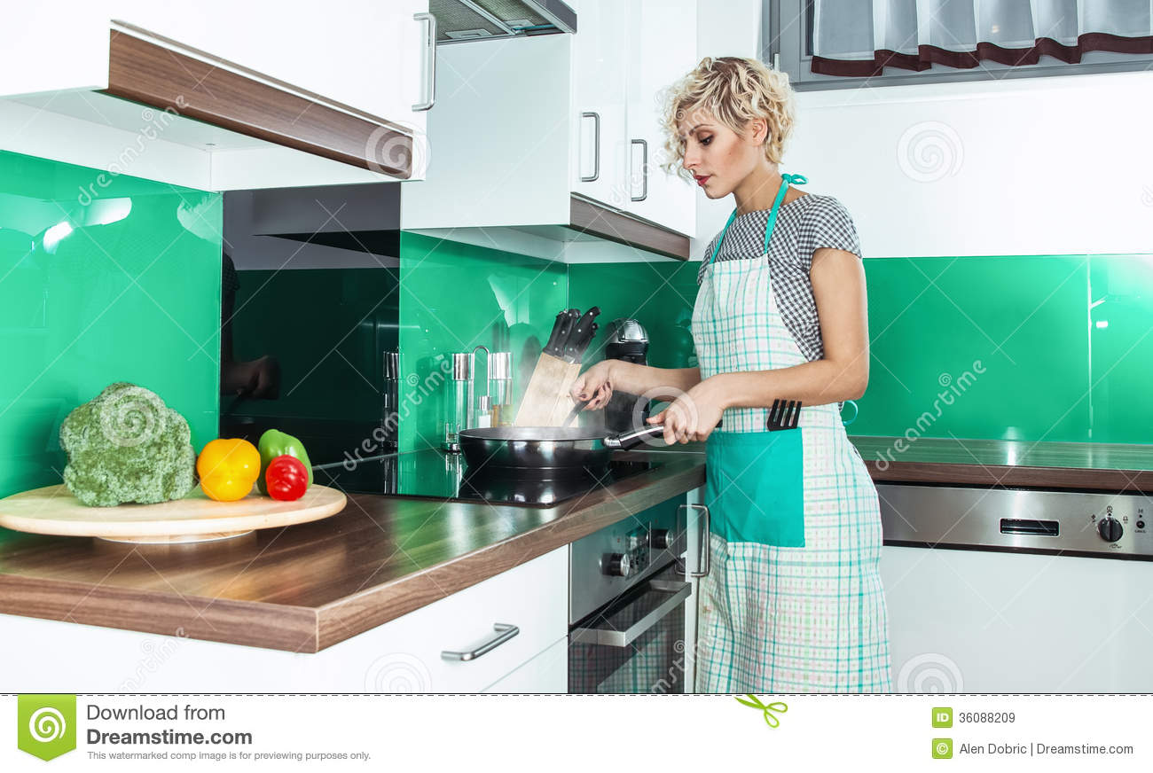 Housewife stock image image of attractive cook lunch for Modern housewife