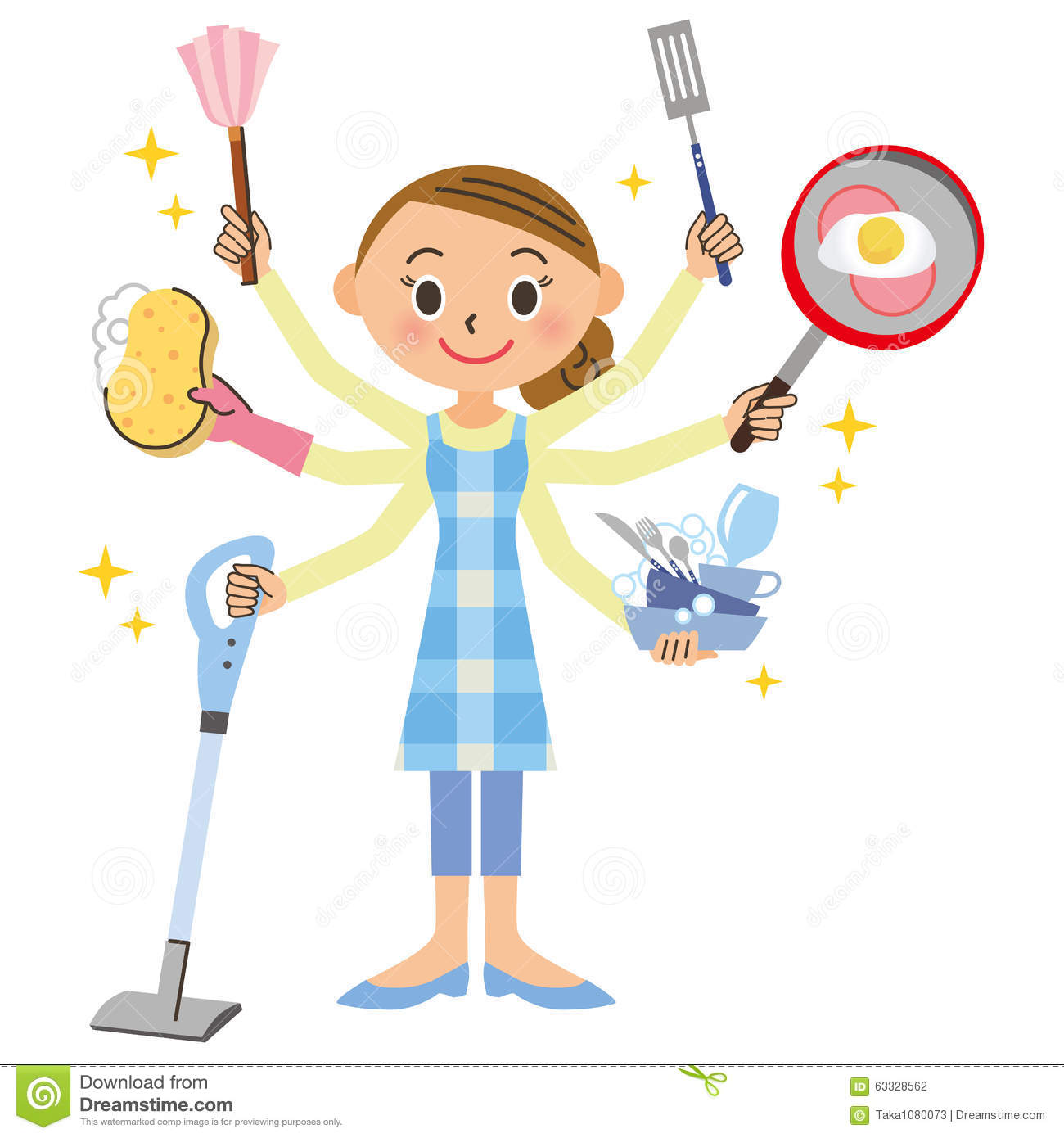 Housework And Housewife Stock Illustration Illustration