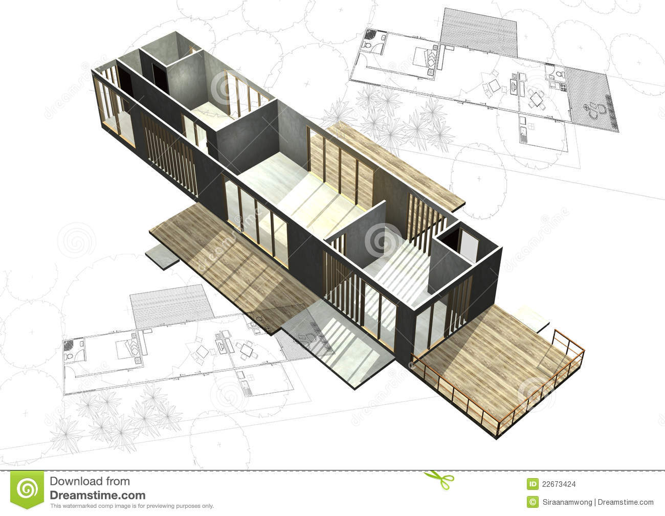 Housing architecture plans with 3d building stock for Architecture design house plans 3d