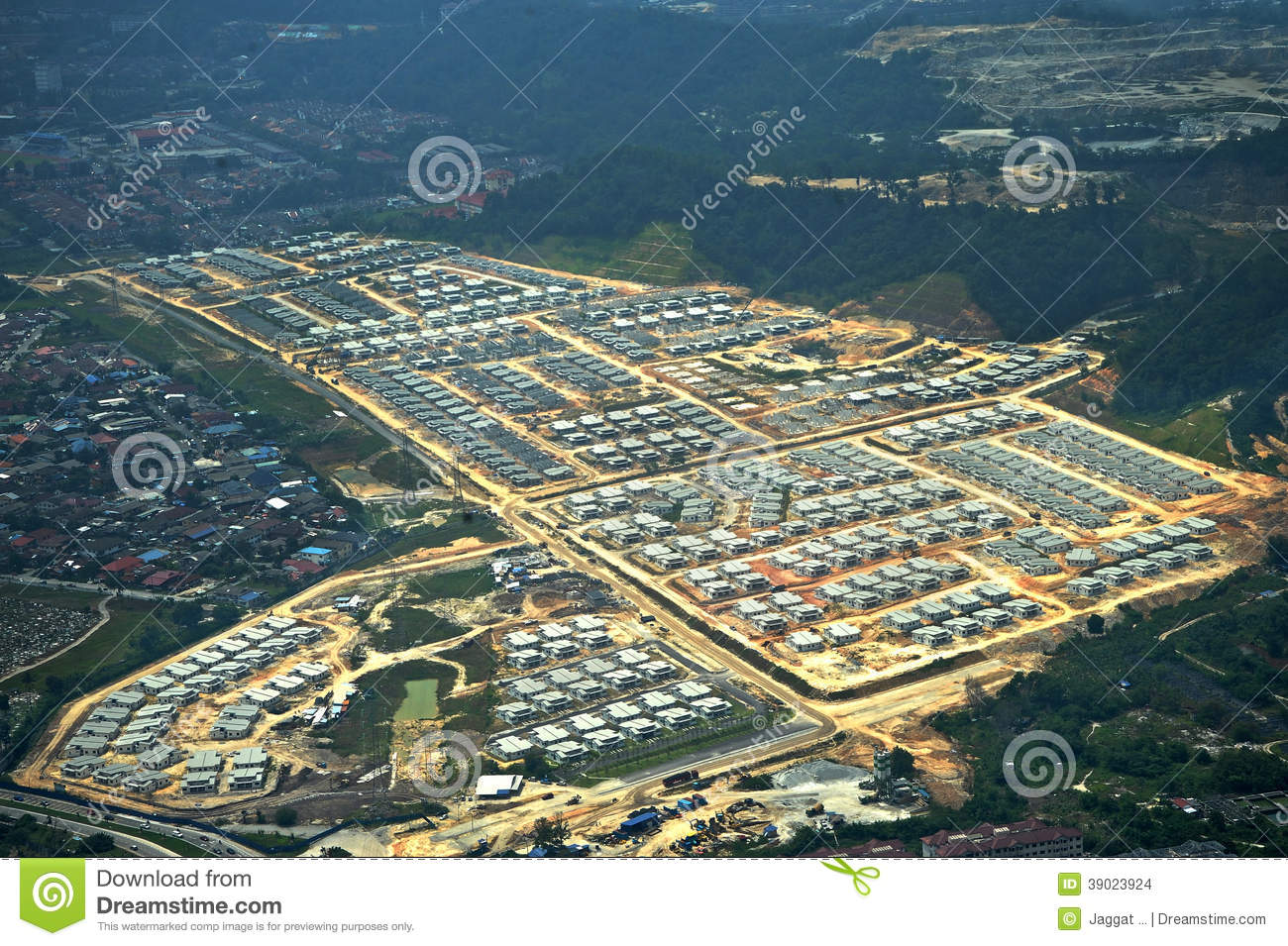 Housing area under constructions