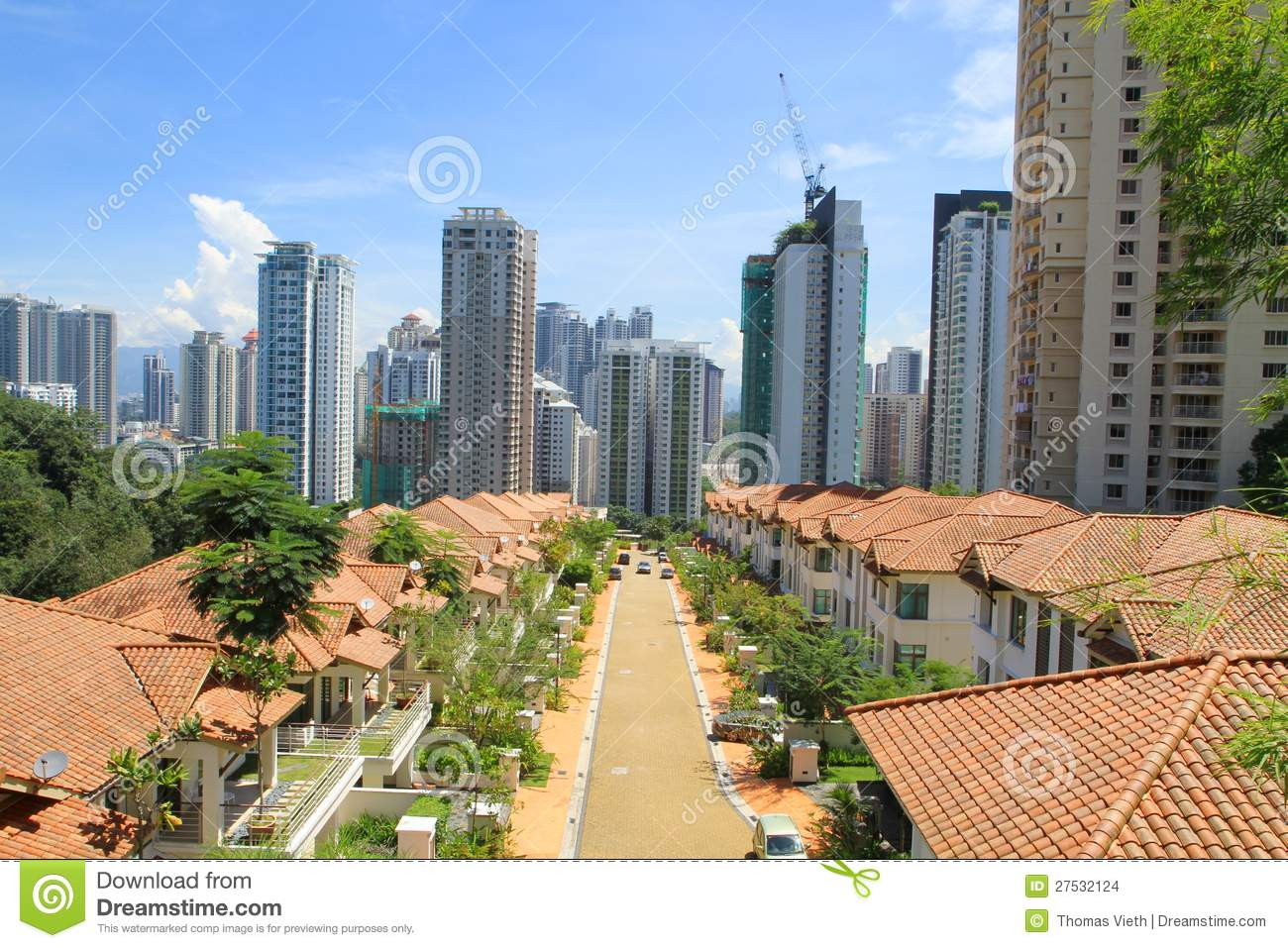 Malaysia kl residential area and high rise condos stock for Gardening tools kuala lumpur