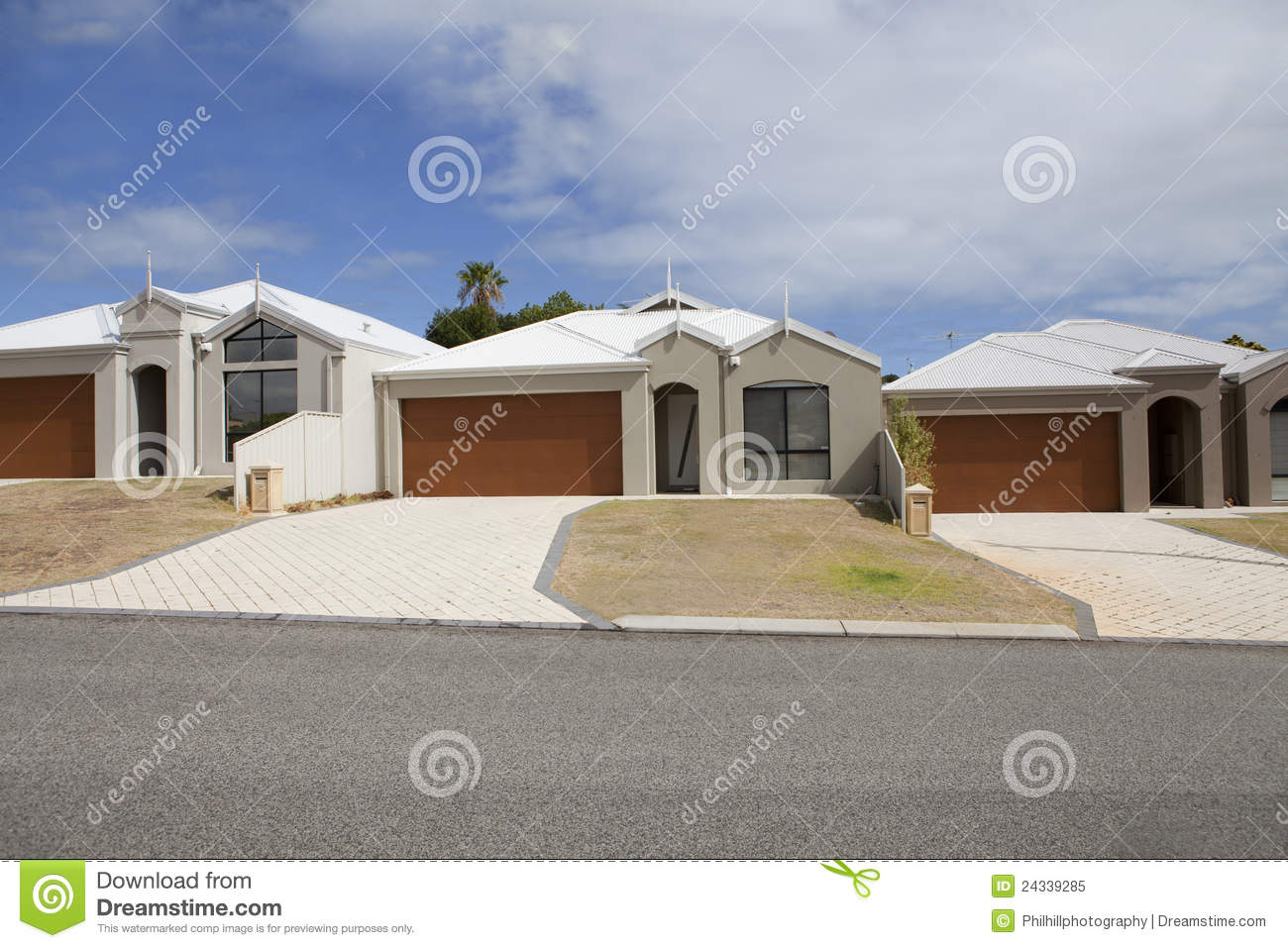 Similar Homes In A Line On A Street Off Scarborough Beach Road Perth