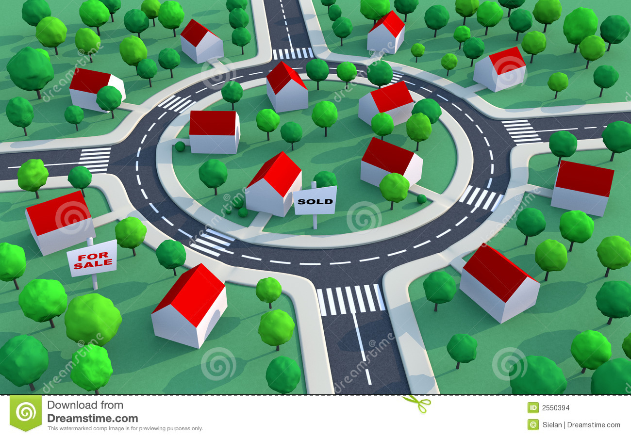 Housing estate in the suburbs stock images image 2550394 for Clipart estate