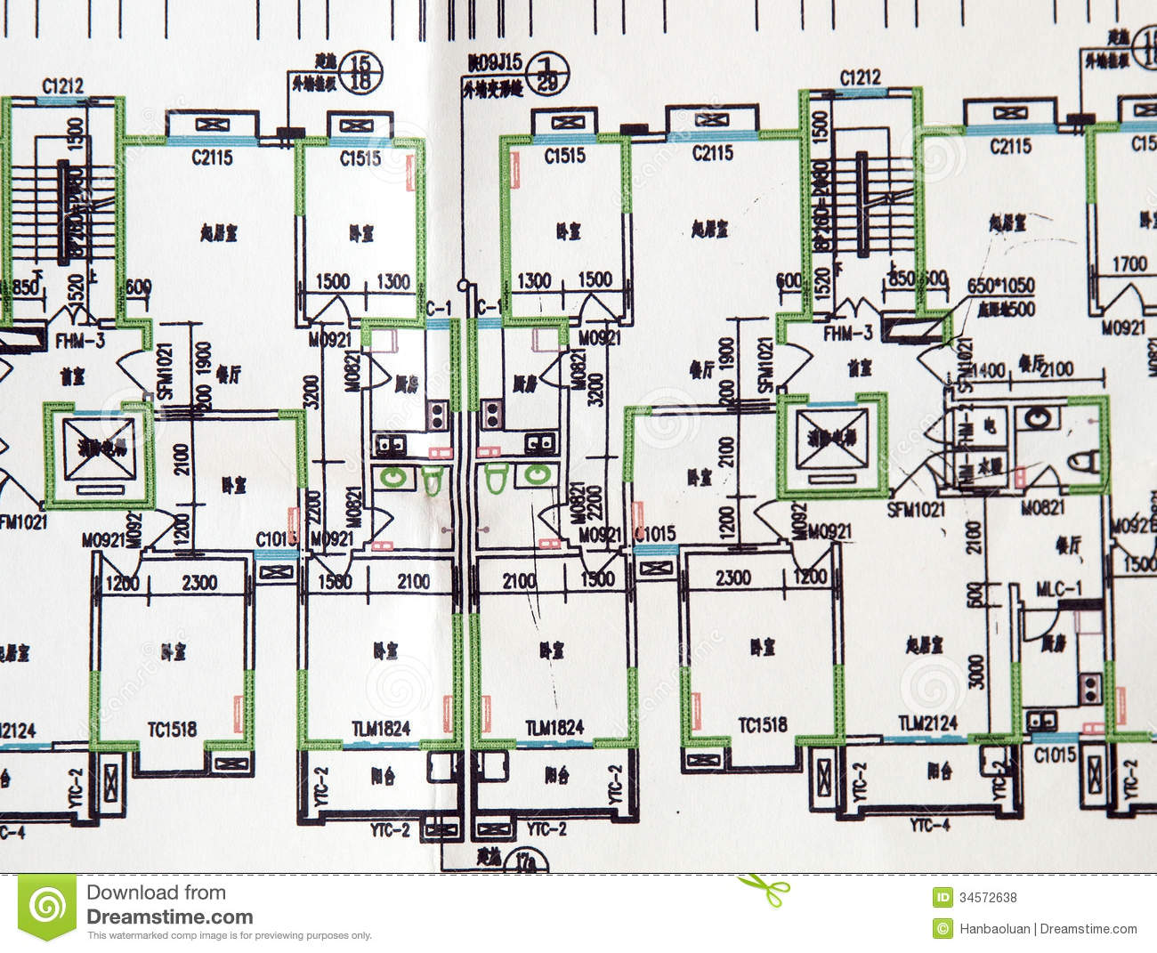 Housing plane drawings stock photo image of arrangements for Print architectural plans