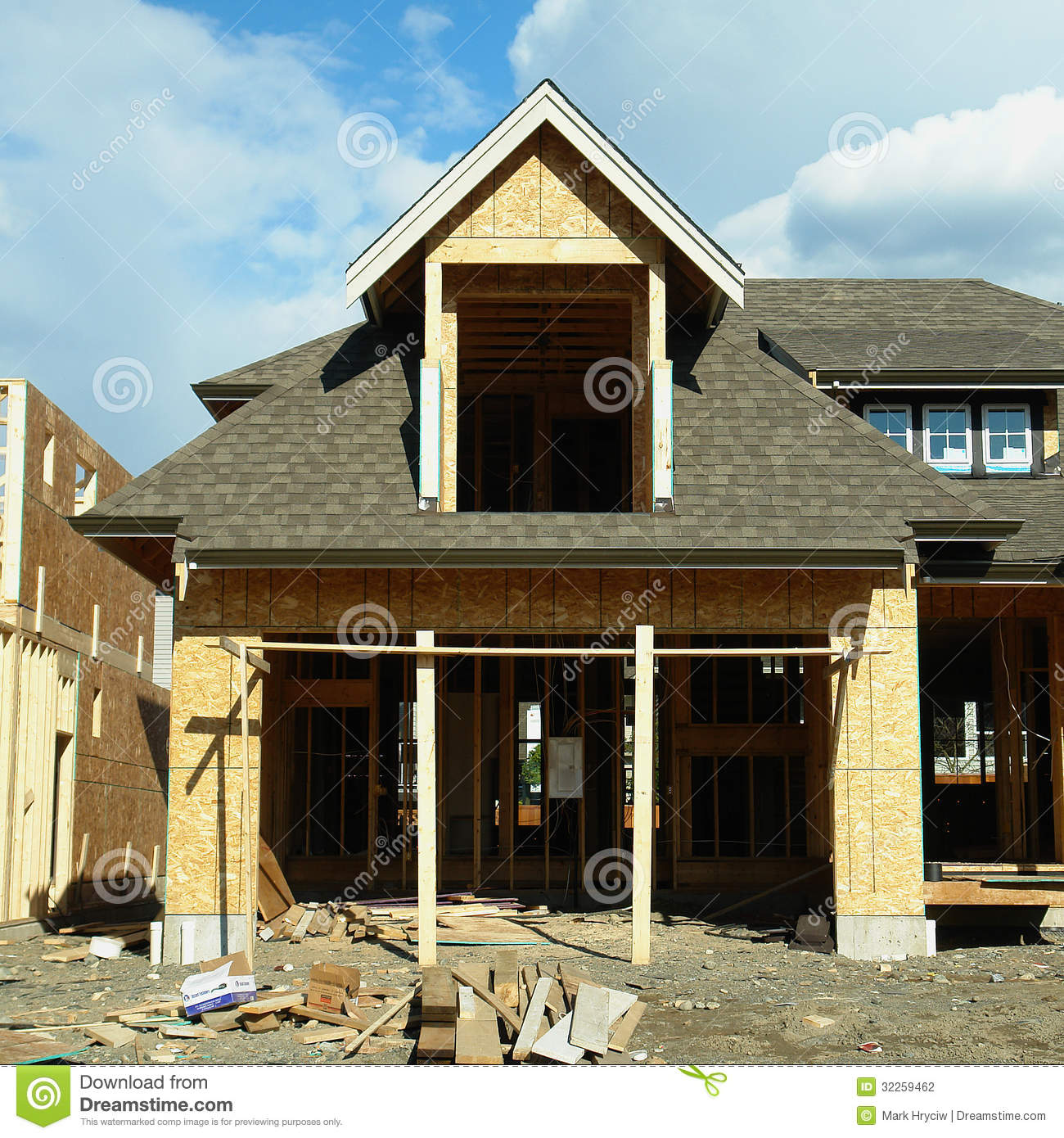 Housing unfinished stock photography image 32259462 for Stages of home construction